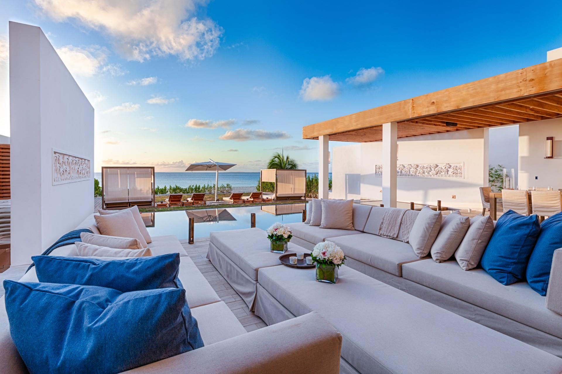 Anguilla beachfront villa Kishti on Meads Bay