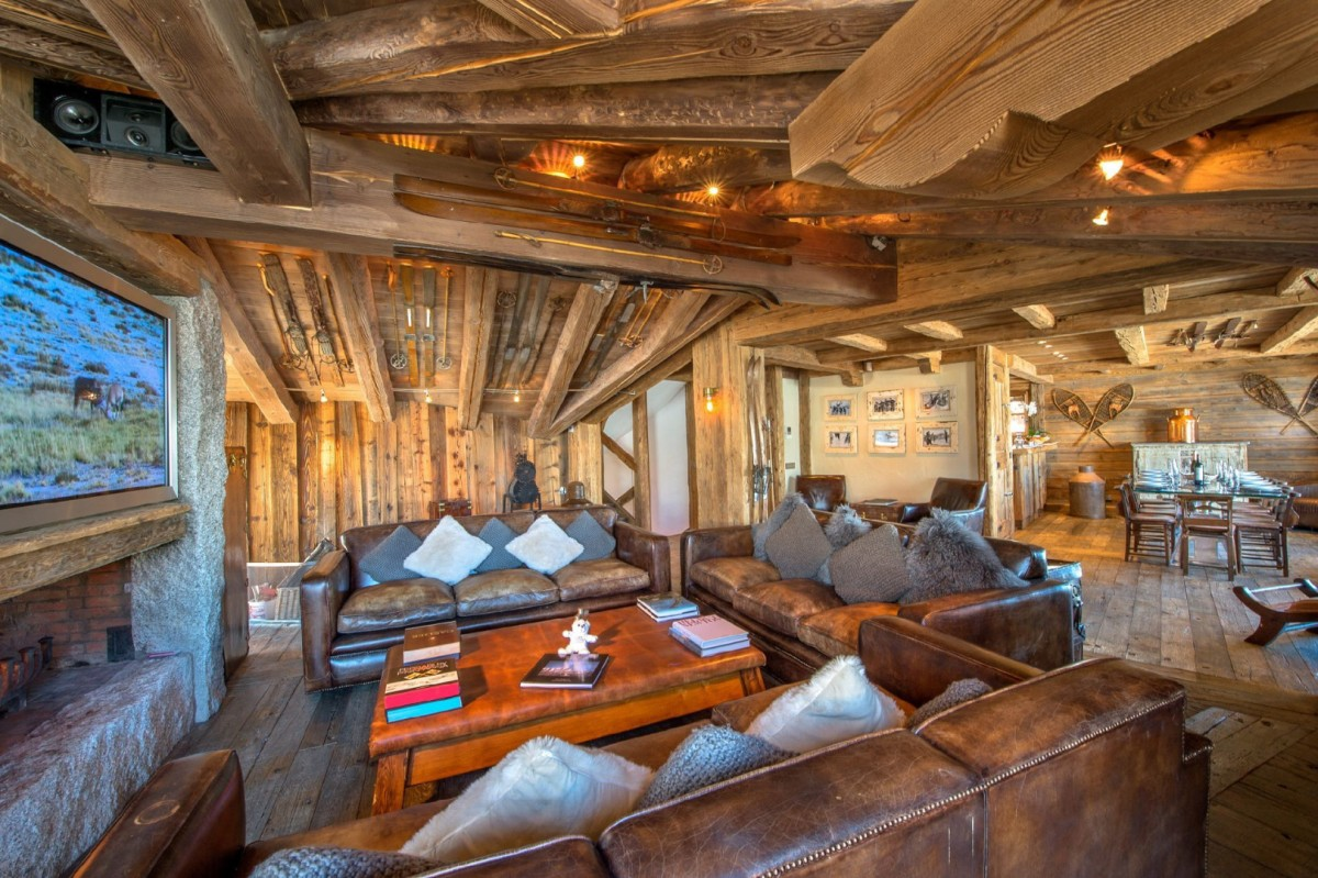 Chalet croc blanc villa chalet croc blanc courchevel for Agencement interieur maison